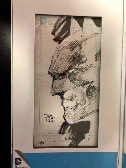Jim Lee Blueline Batman Original Art Sketch Sdcc Exclusive Signature Series Cgc