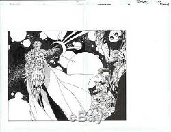 Jim Lee Original Art Divine Right #12 Pages 6 & 7 Splash with Grifter, Lady Tron
