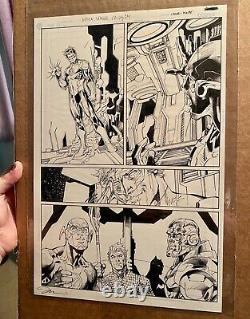 Jim Lee Original Art Justice League #12 Page 24 Pencils By Jim Lee Inks By Hope