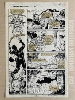 Jim Lee Original Art Punisher War Journal #10 Marvel