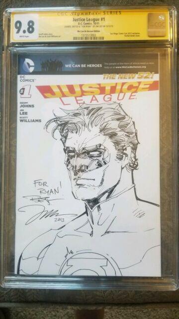 Jim Lee Original Green Lantern Sketch 3 Day Auction Jim Lee Original Art Cgc
