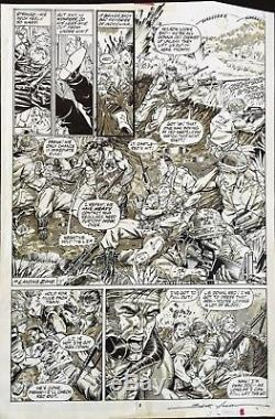 Jim Lee The Punisher War Journal #4 Scott Williams page 2 Original Published Art