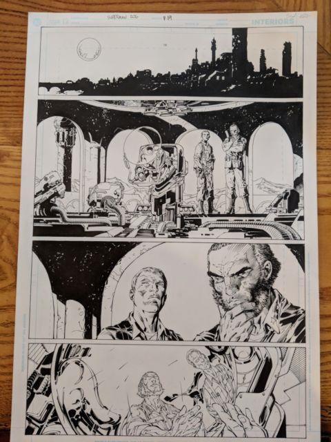 Jim Lee Original Superman Comic Art Page