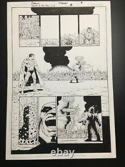 Jim Starlin Original Comic Art Death of The New Gods #8 Darkseid and Superman
