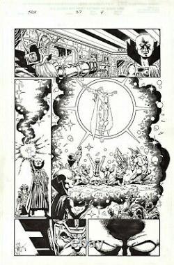 Jim Starlin Signed 2001 Thor Orig. Art-odin, The Watcher, Tarene! Free Shipping