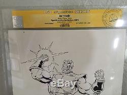 Jim Starlin Sketch Commission Thanos! CGC SS 9x12 original artwork