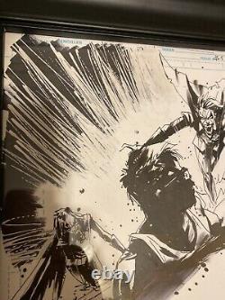 Jock Batman Who Laughs #5 Pg 9 Original Art Scott Snyder Writer Great Action