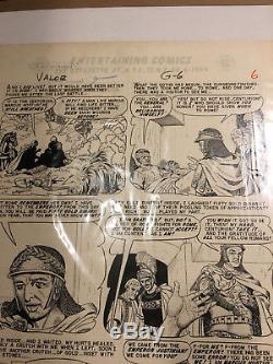 Joe Orlando EC Comics Valor #4 9-10/1955 Page 6 Original Comic Art E. C