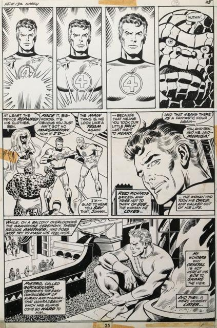 John Buscema Fantastic Four #132 Pge 25 By John Buscema & Sinnott Original Art