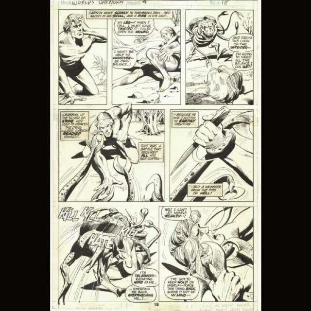 John Buscema & Dick Giordano Original Inks For The Horror Scifi Worlds Unknown