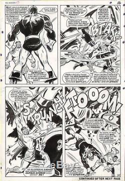John Buscema Original Art Avengers 43 pg 16 Silver Age Large Art 1967