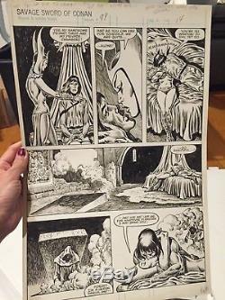 John Buscema Original Comic Book Art Savage Sword of Conan Issue 197 Pg. 34