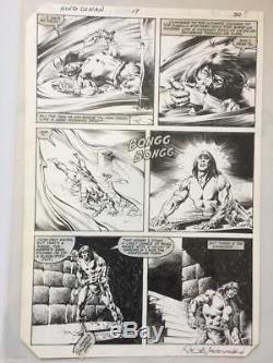 John Buscema/Rudy Nebres original comic book art page -King Conan Issue 17 Pg 30