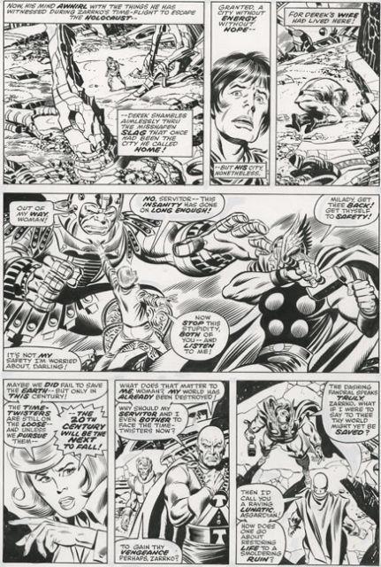 John Buscema Thor #245 Pg. 7 Original Comic Art