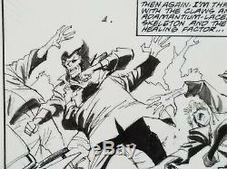 John Buscema and Bill Sienkiewicz Wolverine #12 Story Page 6 Original Art Signed