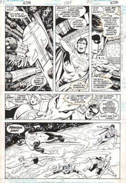 John Byrne/Dick Giordano Action Comics #589, pg. 11 ORIGINAL ART, Superman & GLC