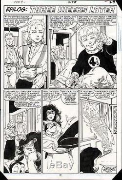 John Byrne Fantastic Four #275 Original Art Page She-hulk Reed Sue Franklin 1985