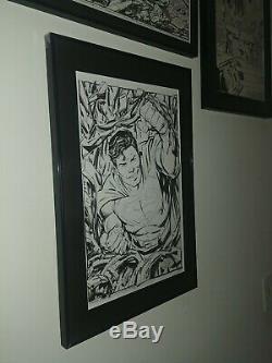 John Byrne ORIGINAL ART COMMISSION SUPERMAN Man of Steel recreation. DC COMICS
