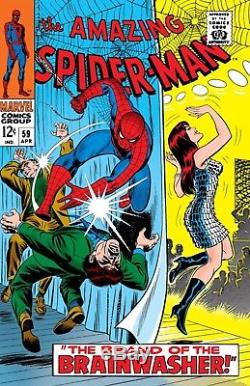 John Romita Amazing Spider-man #59 Cover Art Very First Mj Cover (large) 1967