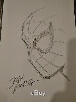 John Romita Amazing Spider-man Sketch Original Art Signed! Marvel