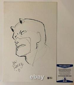 John Romita Jr Signed Original Marvel Comics Daredevil Art Sketch With Beckett COA