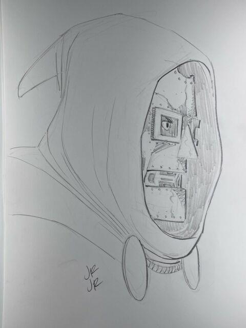 John Romita Jr Signed Original Marvel Comics Dr. Doom Art Sketch 11x17