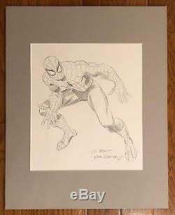John Romita Sr. Spiderman original art Hand Drawn signed full body Sketch 1990