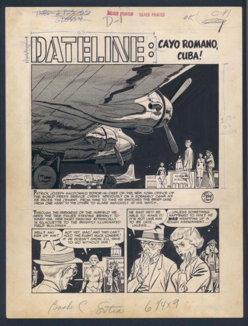 Johnny Craig Beautiful Art! 8 Page Ec Story! Espionage