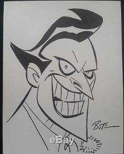 Joker sketch by Bruce Timm Batman the Animated Series style SDCC 2017