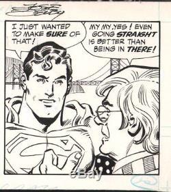 Jose Delbo Signed Superman, Toyman 7-18-1984 Orig. Comic Strip Art-free Shipping