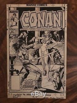 Jose Delbo and Mark Texeira Conan the Barbarian #227 Original Cover Art 1989