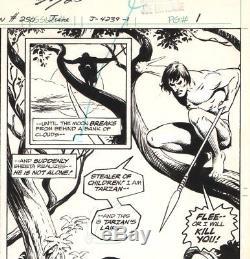 Jose Luis Garcia-lopez Signed Vintage 1976 Tarzan Splash Orig. Art-free Shipping