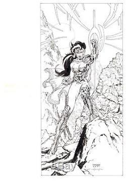 Just Imagine Stan Lee With Jim Lee Creating Wonder Woman DC AD ORIGINAL ART