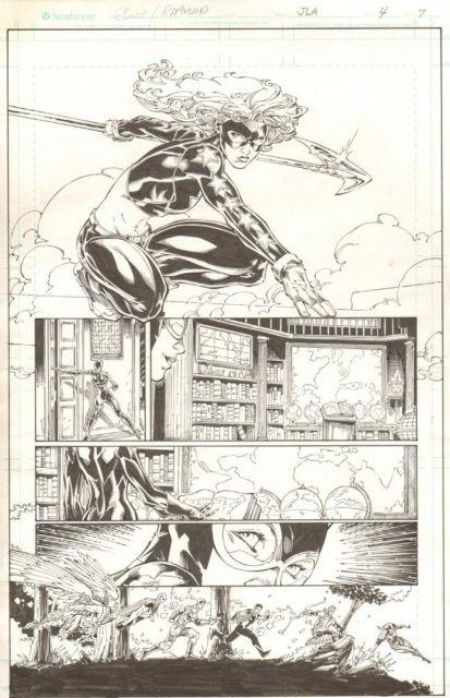 Justice League Of America #4 P. 7 Stargirl & Catwoman 2013 Art By Brett Booth