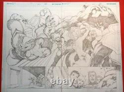 KEVIN MAGUIRE Original Art SUPERGIRL Double Page Spread! Excellent condition