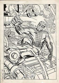 KIRBY MARVELMANIA #5 COVER (ONLY KNOWN KIRBY SILVER AGE SPIDER-MAN COVER!) 1960s