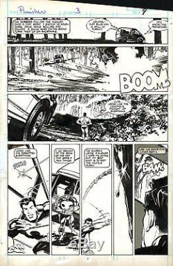 KLAUS JANSON The Punisher #3 p7 ORIGINAL COMIC ART 1987