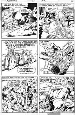 Kamandi #17 DC 1974 (Original Art) Pg #8 Jack Kirby / Mike Royer