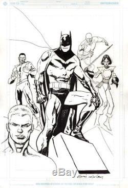 Kevin Nowlan Batman, Black Lightning, Katana Splash Prelim Art! Free Shipping