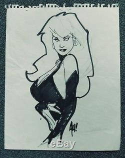 LADY DEATH 11 x 14 Adam Hughes SIGNED Original Art Sketch Chaos Comics