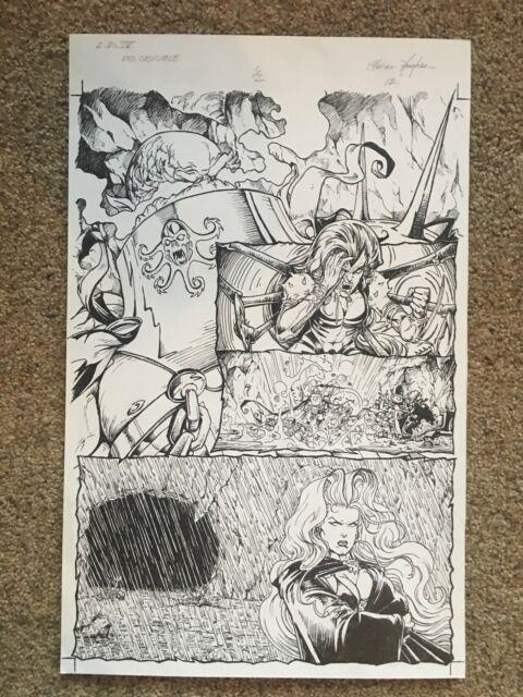 Lady Death 1/2 Page 12 By Steven Hughes Original Art