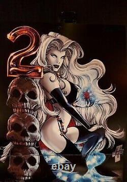 Lady Death 2000 Calendar Shot / Pin-up Art By Steven Hughes