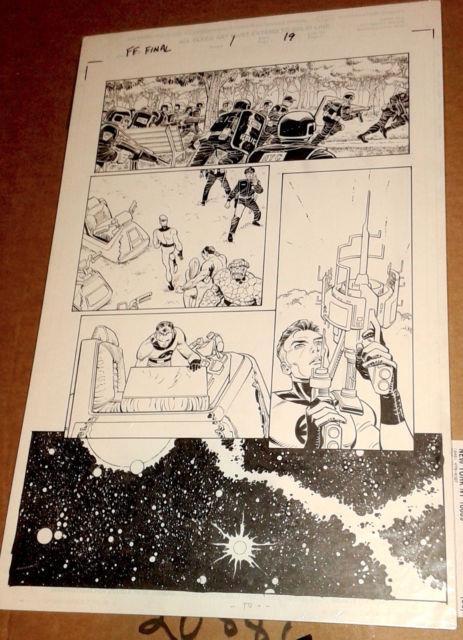 Last Fantastic Four Story P. 19 John Romita Jr/scott Hanna/stan Lee Original Art