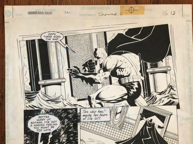 Legends Dark Knight Batman Original Art Dc Comics Issue 113 Pg 12