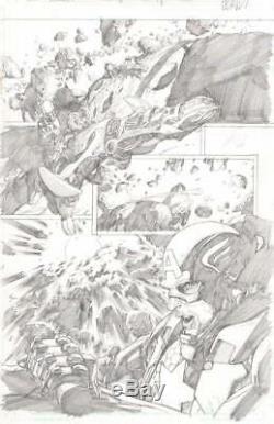 Leinil Yu 2013 Avengers Original Art-captain America-free Shipping