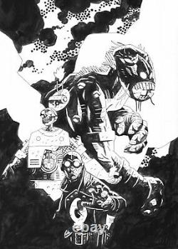 Lobster Johnson The Iron Prometheus #4 Cover Mike Mignola Hellboy Original Art