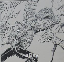 Longshot 6 pg 23 limited series Art Adams comic book original art OA page xmen