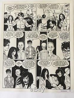 Love & Rockets #33 Jaime Hernandez Original Comic Art Page! Wig Wam Bam