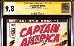 MARVEL Comic CAPTAIN AMERICA 695 CGC SS 9.8 Original Art Sketch AVENGERS ENDGAME