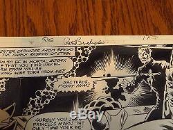 MICRONAUTS #26 ORIGINAL Comic ART Page 17 Pat Broderick Pencils 1981 Princess
